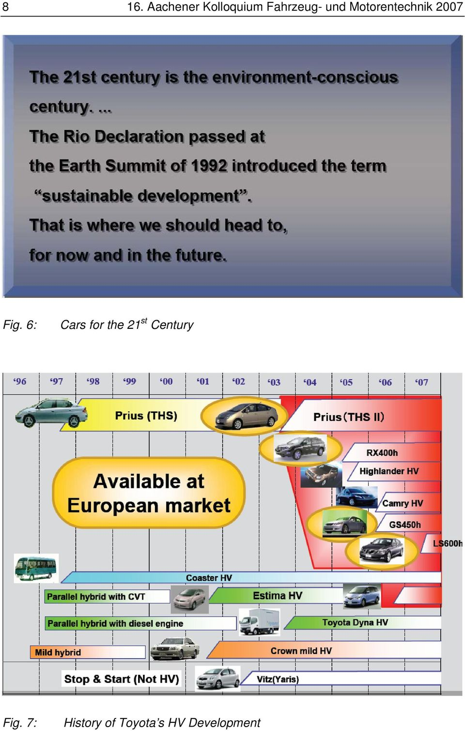 Fig. 6: Cars for the 21 st Century