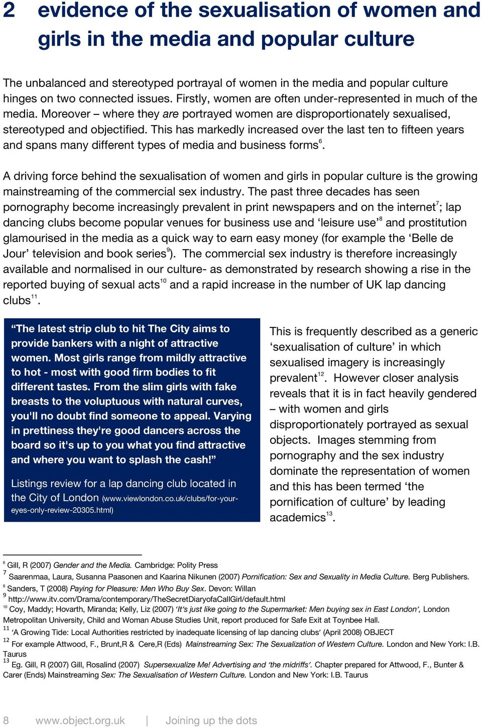 Beyond the sexualization of culture thesis statements