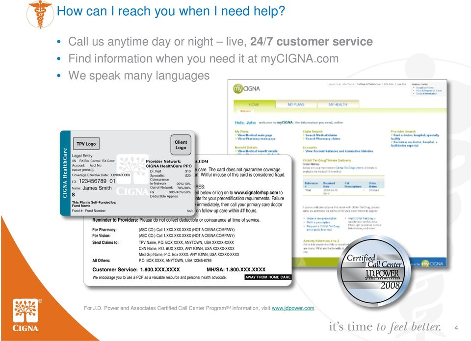 information when you need it at mycigna.