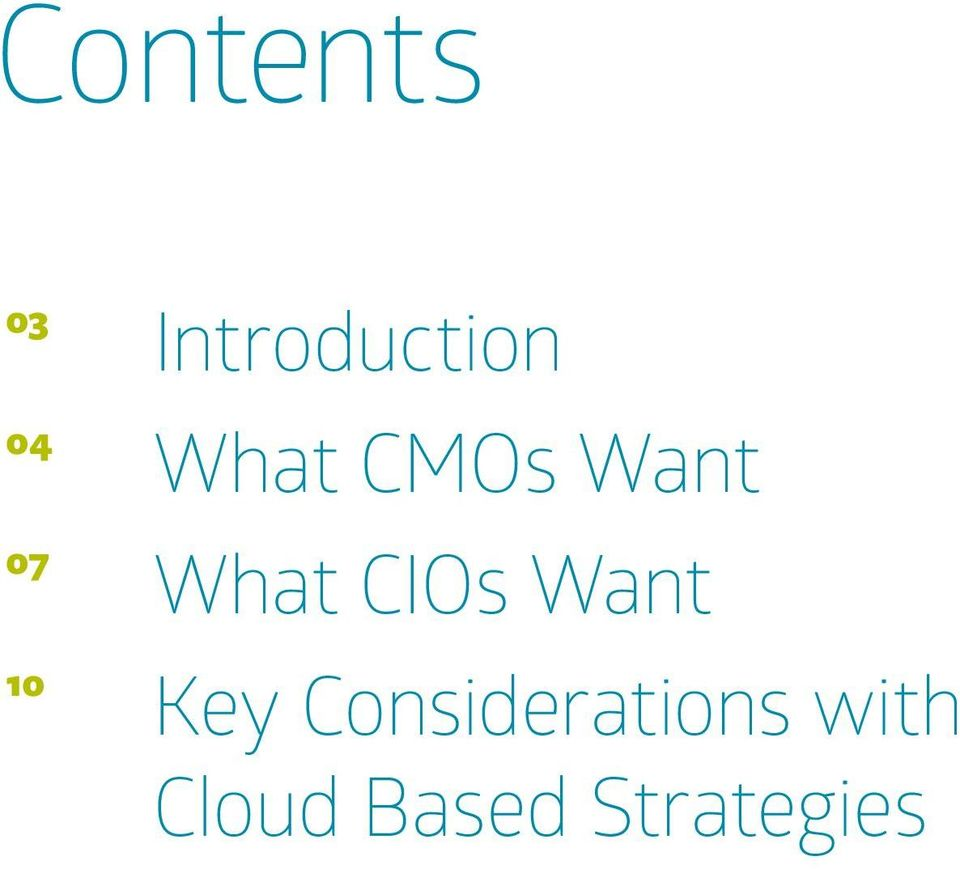 What CIOs Want Key