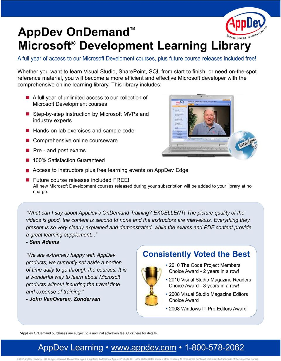 comprehensive online learning library.