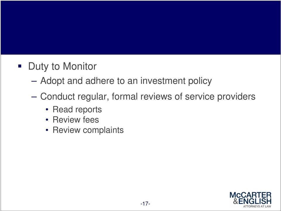 formal reviews of service providers