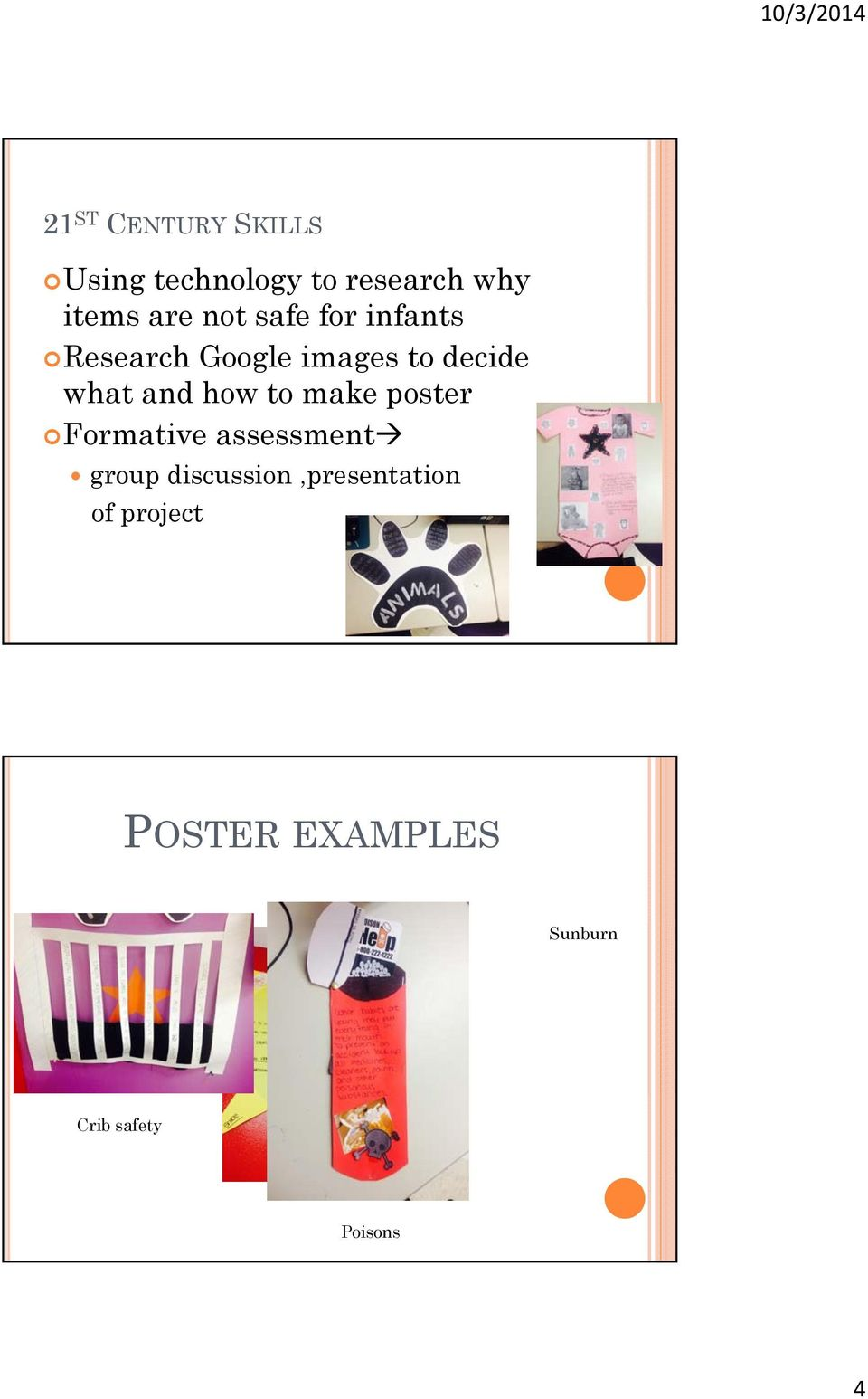 how to make poster Formative assessment group