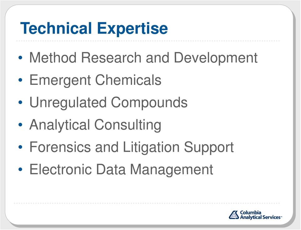 Compounds Analytical Consulting Forensics