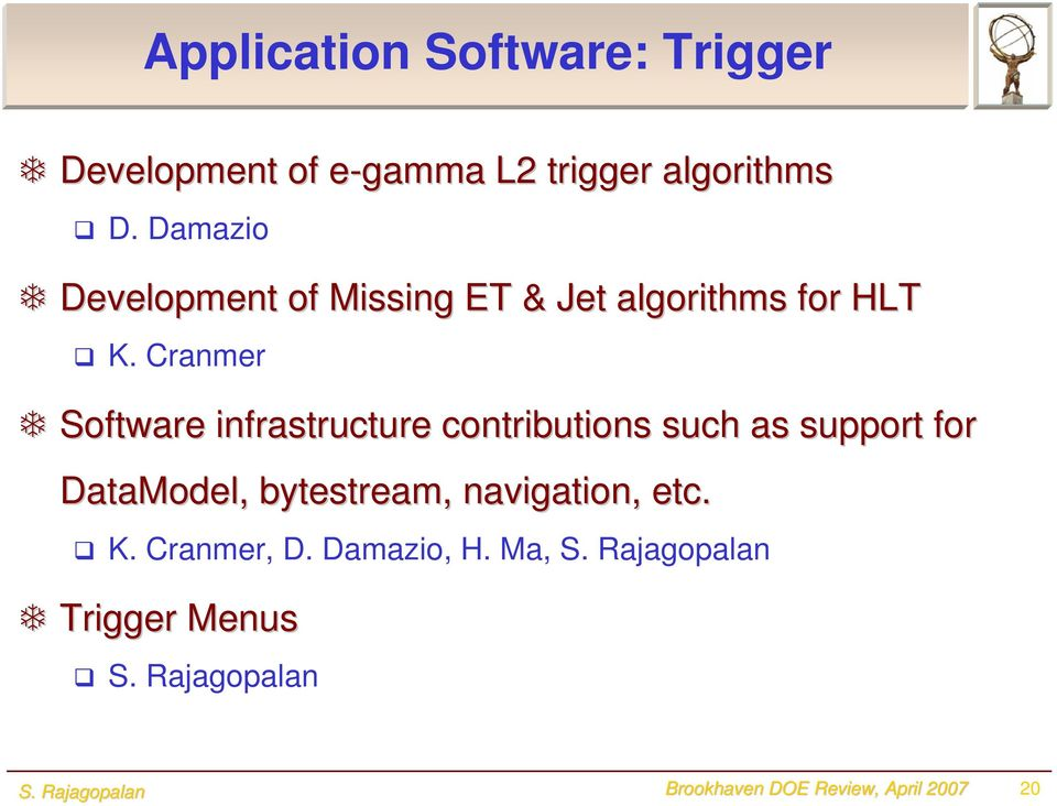 Cranmer Software infrastructure contributions such as support for DataModel,