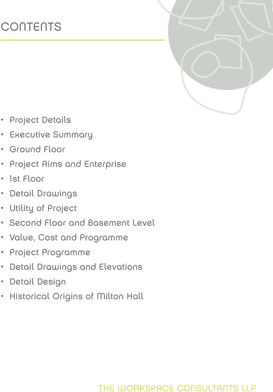 Floor and Basement Level Value, Cost and Programme Project Programme
