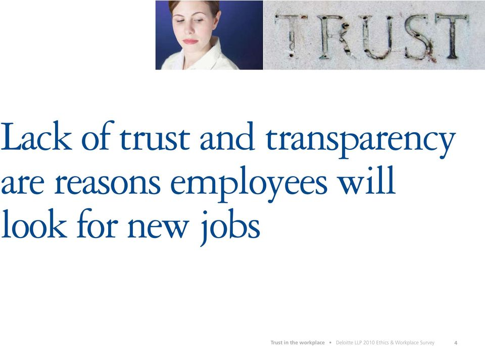 jobs Trust in the workplace