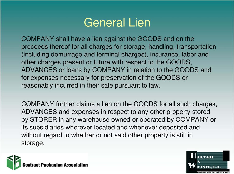 GOODS or reasonably incurred in their sale pursuant to law.