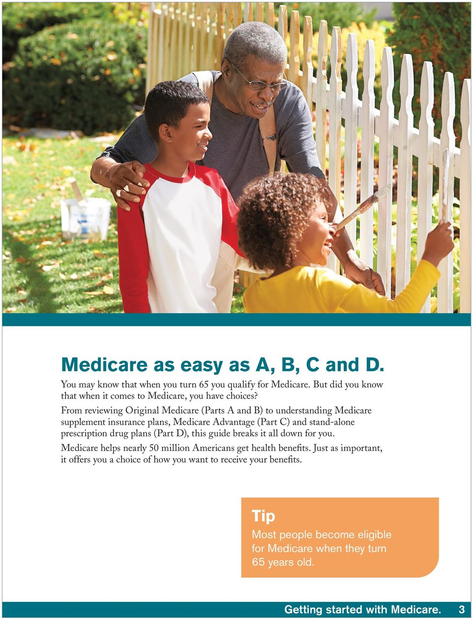 From reviewing Original Medicare (Parts A and B) to understanding Medicare supplement insurance plans, Medicare Advantage (Part C) and stand-alone prescription