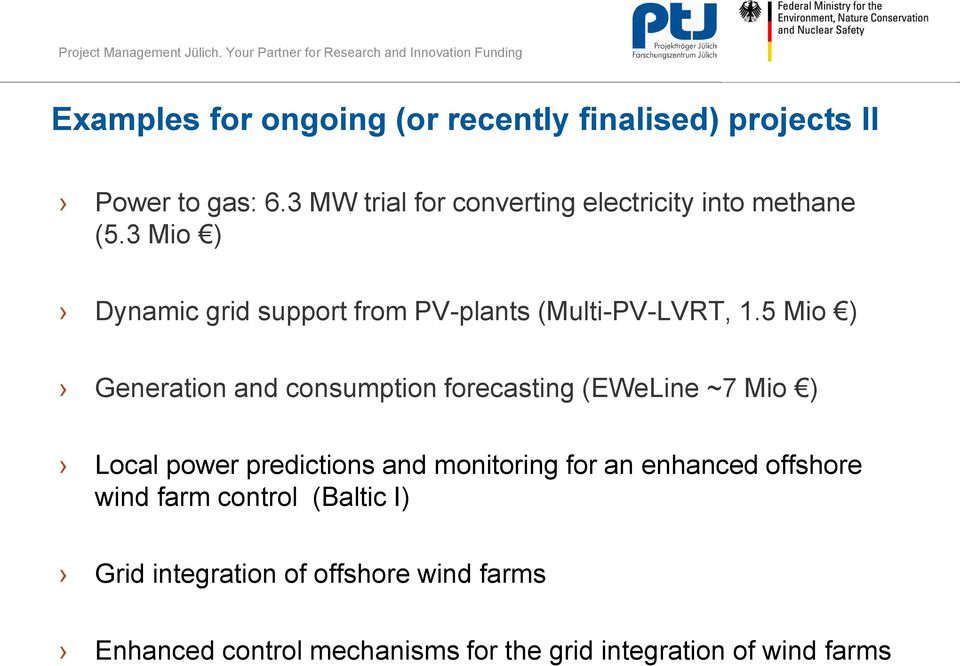 3 Mio ) Dynamic grid support from PV-plants (Multi-PV-LVRT, 1.
