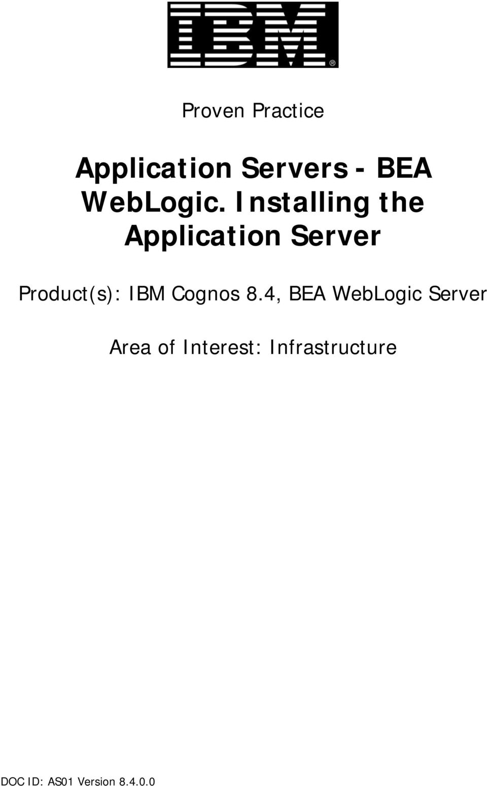 Installing the Application Server Product(s):
