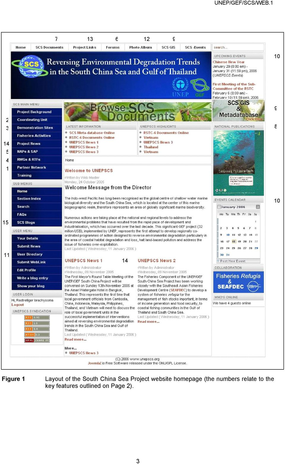 Project website homepage (the numbers