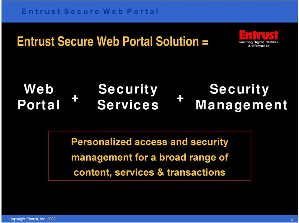 Personalized access and security management for