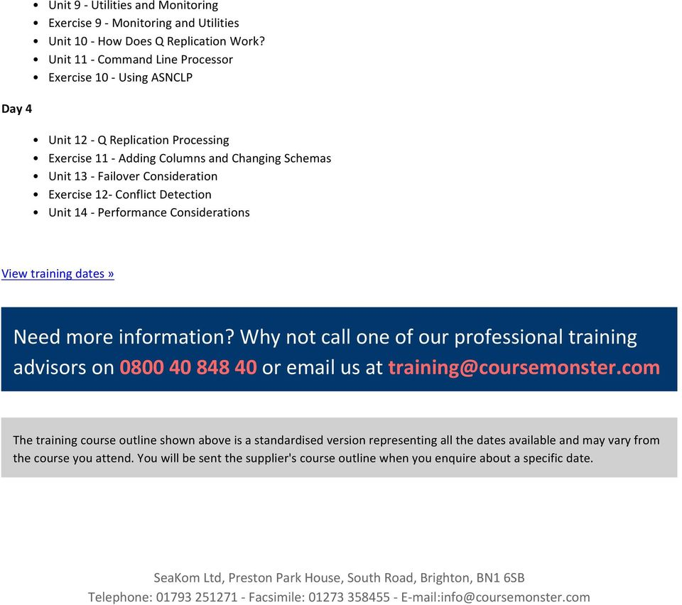 Detection Unit 14 - Performance Considerations View training dates» Need more information?