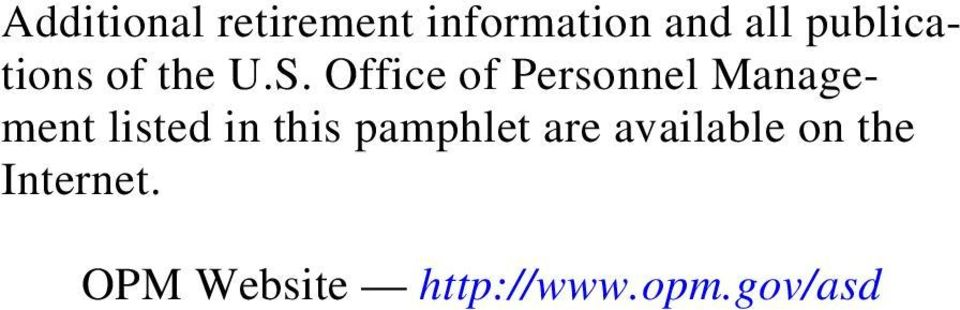 Office of Personnel Management listed in this