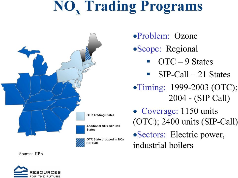 States SIP-Call 21 States Timing: 1999-2003 (OTC); 2004 - (SIP Call) Coverage: