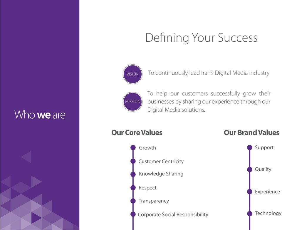 through our Digital Media solutions.