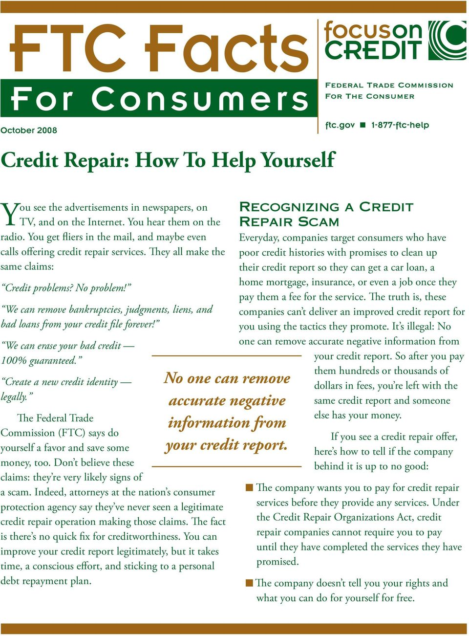 We can remove bankruptcies, judgments, liens, and bad loans from your credit file forever! We can erase your bad credit 100% guaranteed. Create a new credit identity legally.