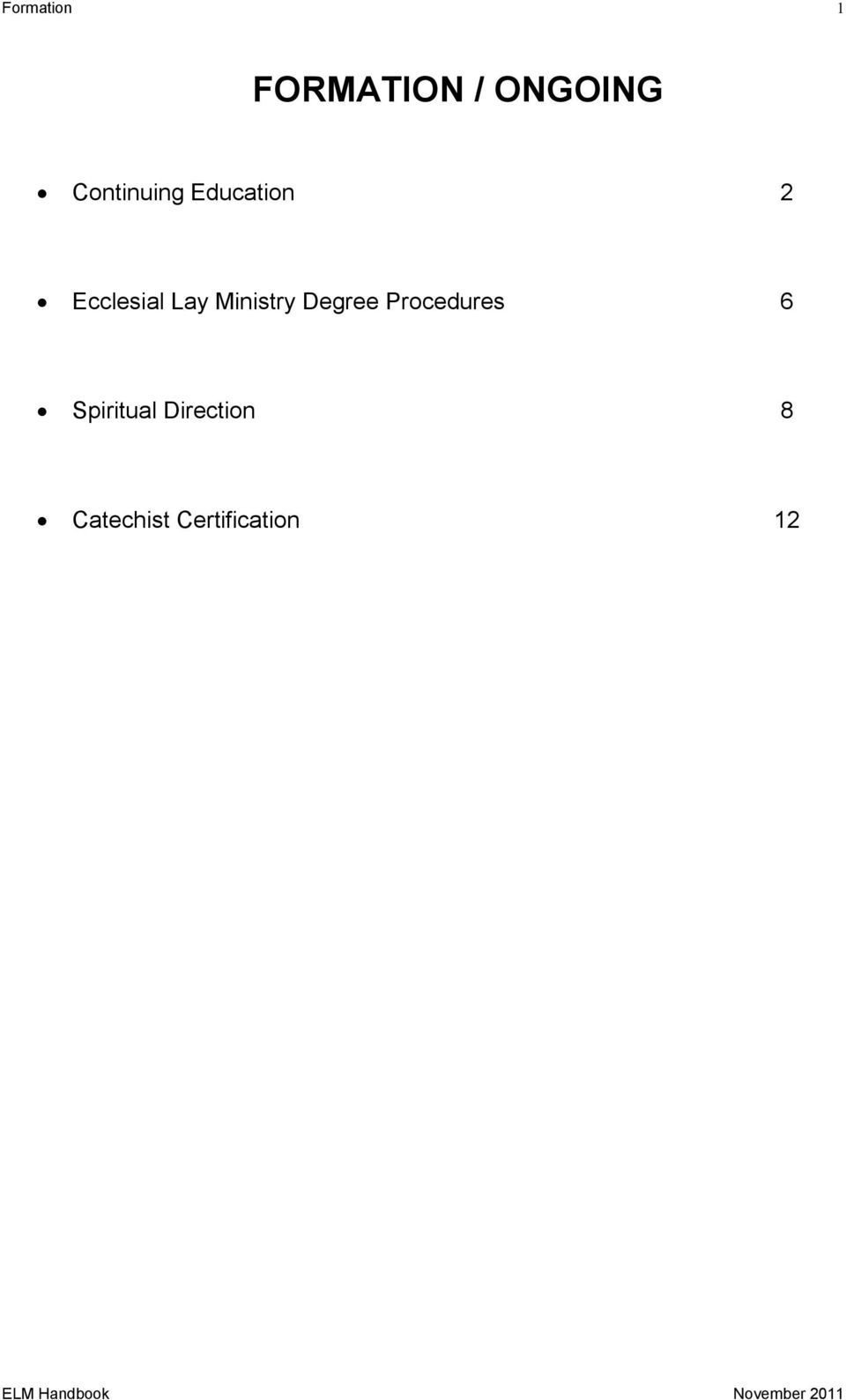 Ministry Degree Procedures 6