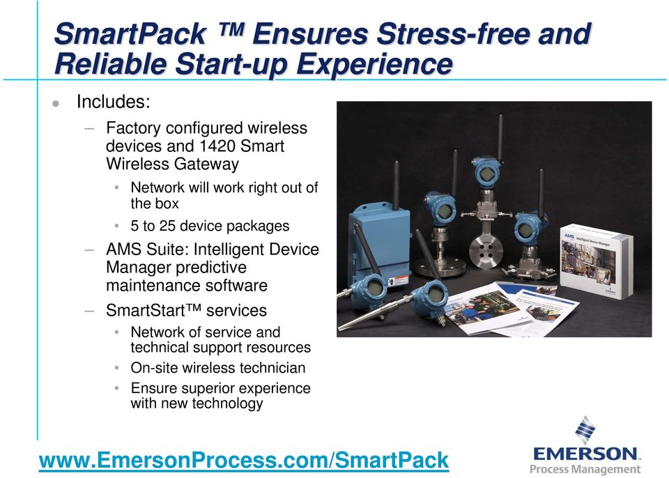 Intelligent Device Manager predictive maintenance software SmartStart services Network of service and technical