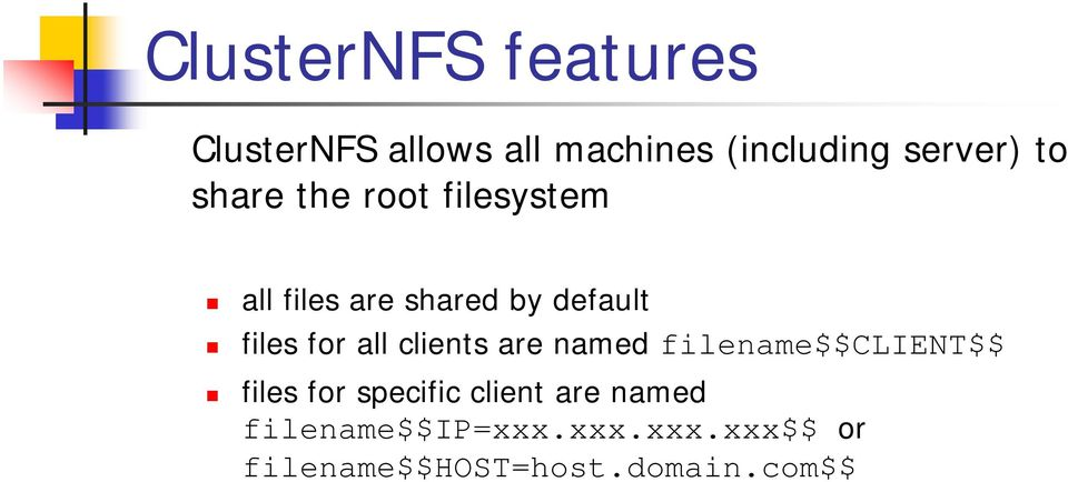 all clients are named filename$$client$$ files for specific client are