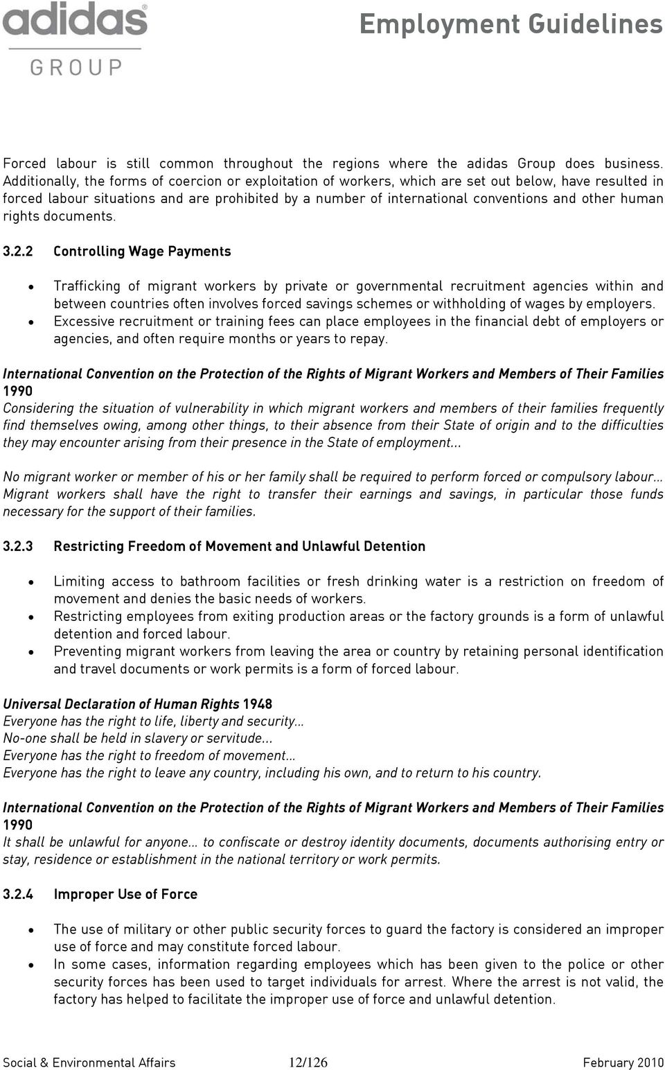 other human rights documents. 3.2.