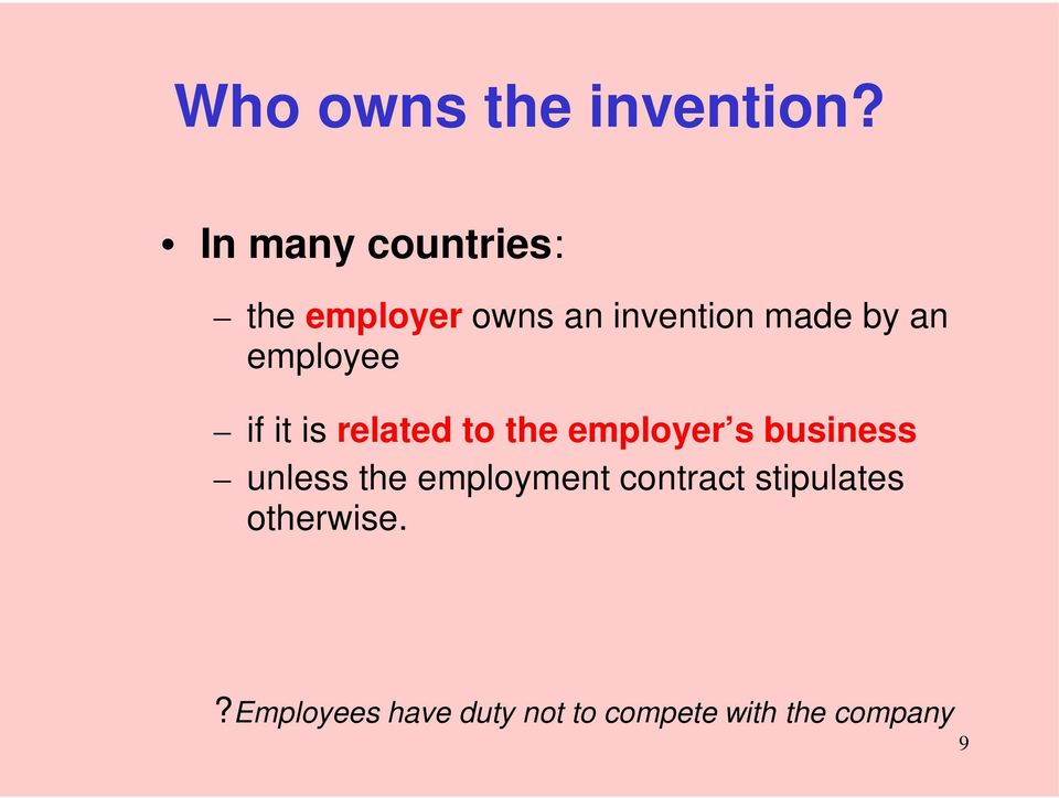 employee if it is related to the employer s business unless