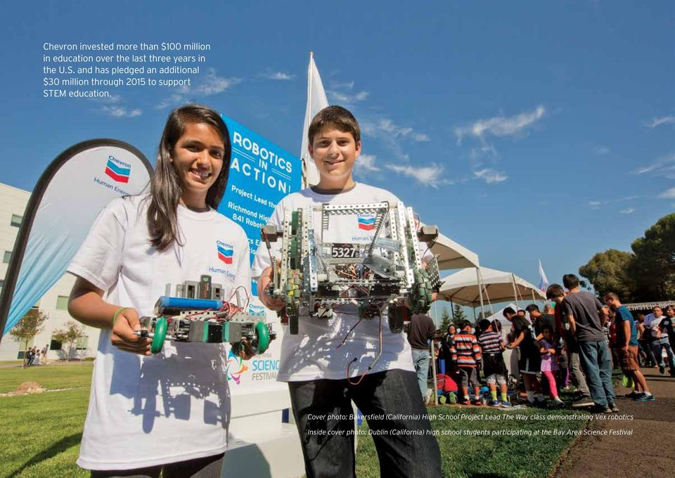 Cover photo: Bakersfield (California) High School Project Lead The Way class demonstrating Vex