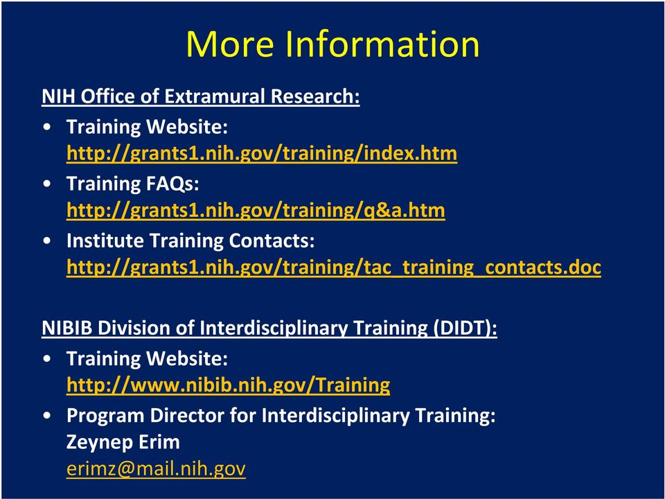 doc NIBIB Division of Interdisciplinary Training (DIDT): Training Website: http://www.nibib.nih.