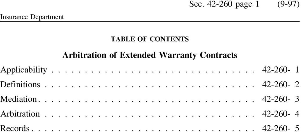 Extended Warranty Contracts Applicability.