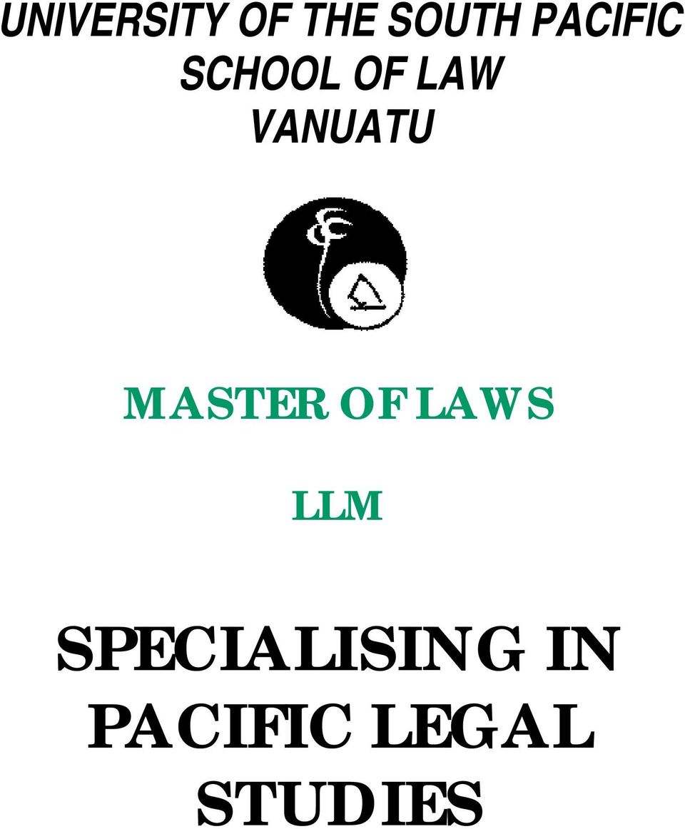 MASTER OF LAWS LLM