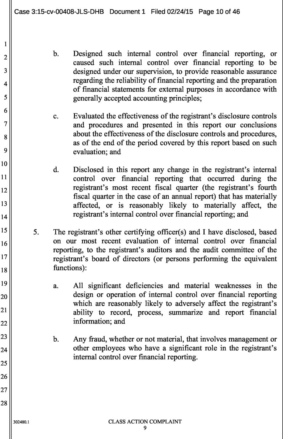 reliability of financial reporting and the preparation of financial statements for external purposes in accordance with 5 generally accepted accounting principles; c.