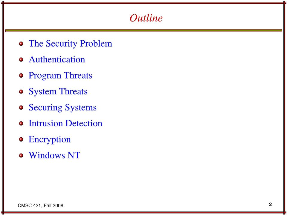 Threats Securing Systems Intrusion