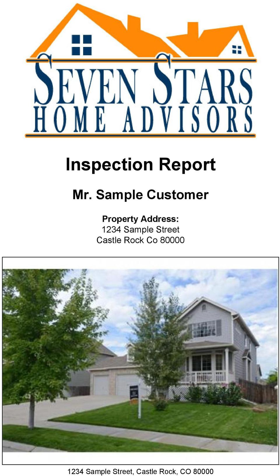 1234 Sample Street Castle Rock Co
