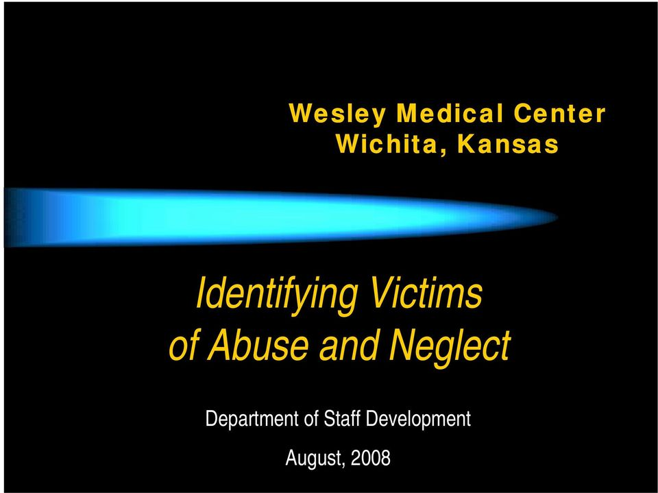 Abuse and Neglect Department