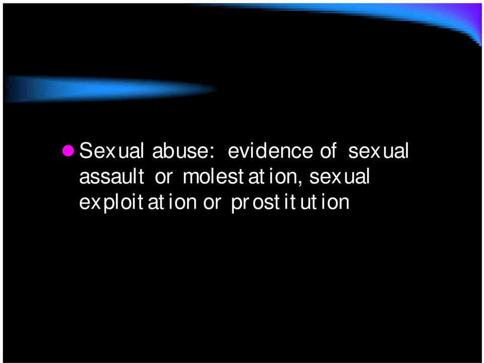 molestation, sexual