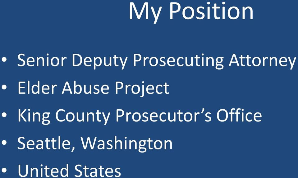 Project King County Prosecutor s