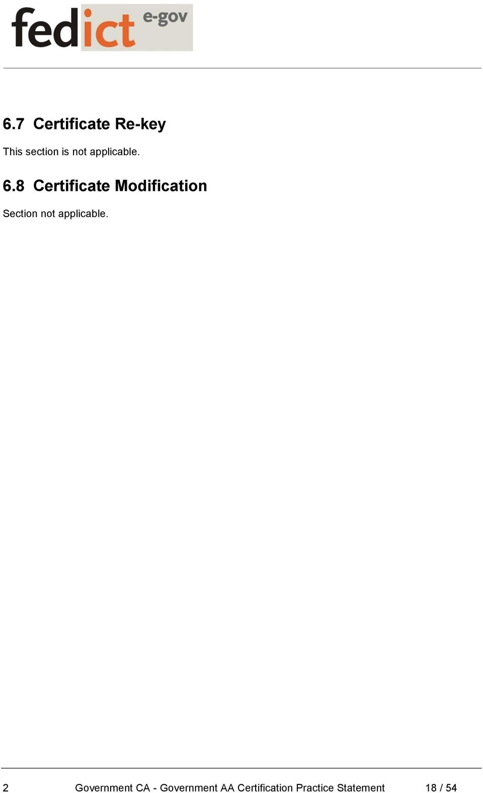 8 Certificate Modification Section not
