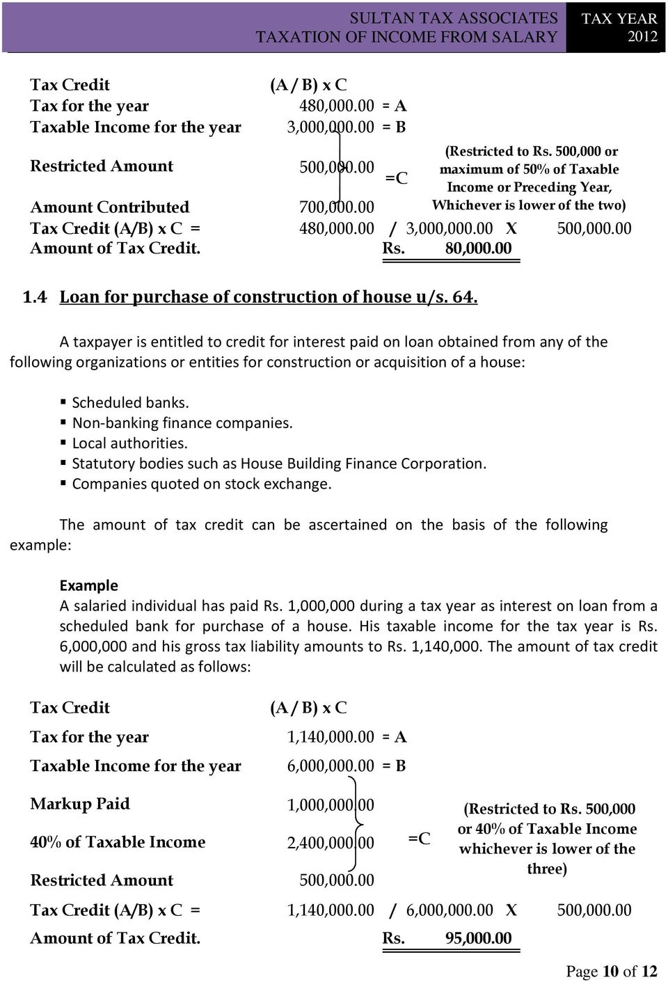 4 Loan for purchase of construction of house u/s. 64.