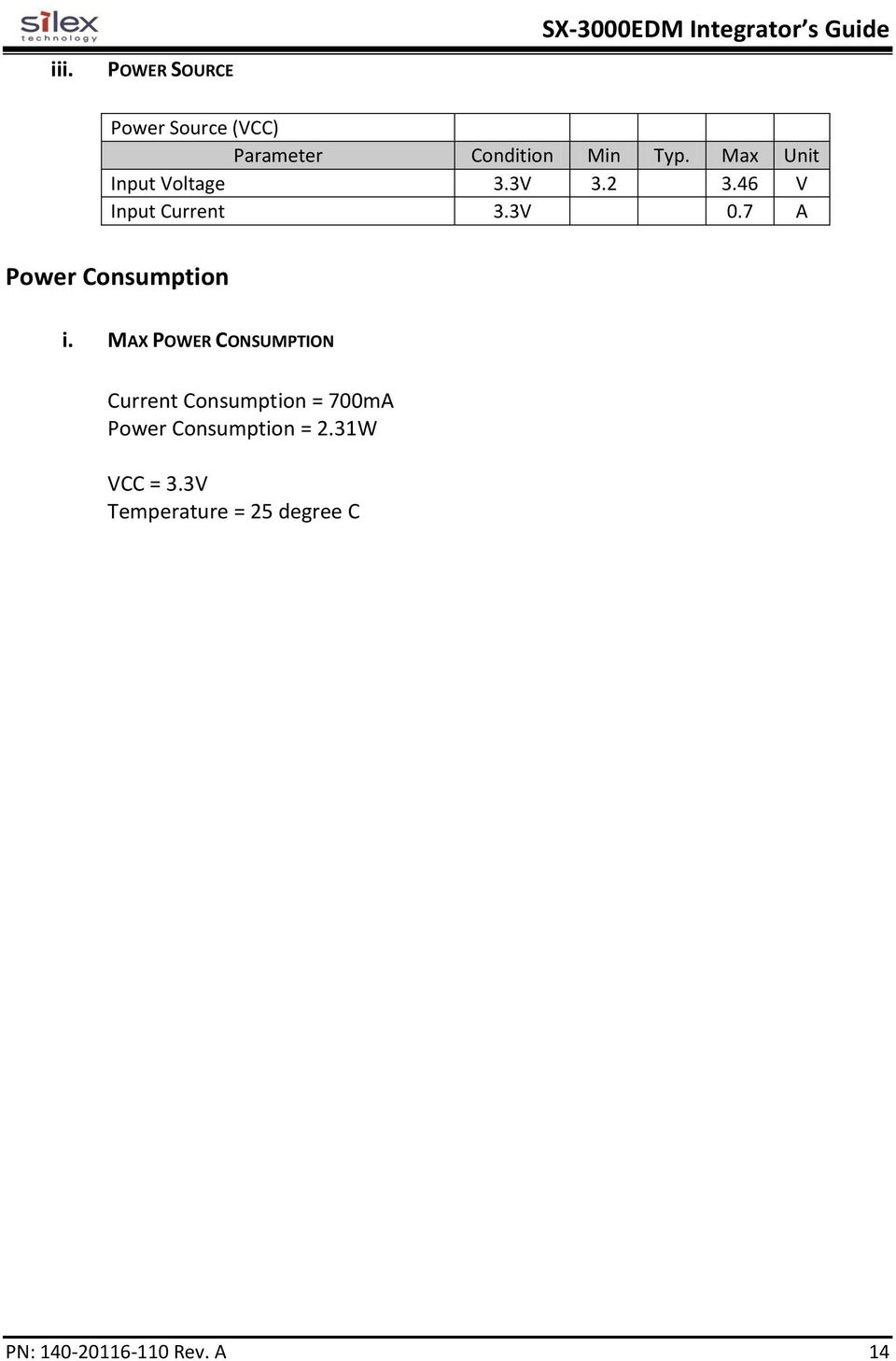 7 A Power Consumption i.
