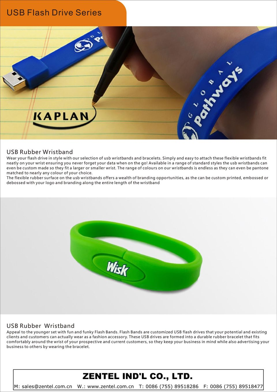Available in a range of standard styles the usb wristbands can even be custom made so they fit a larger or smaller wrist.