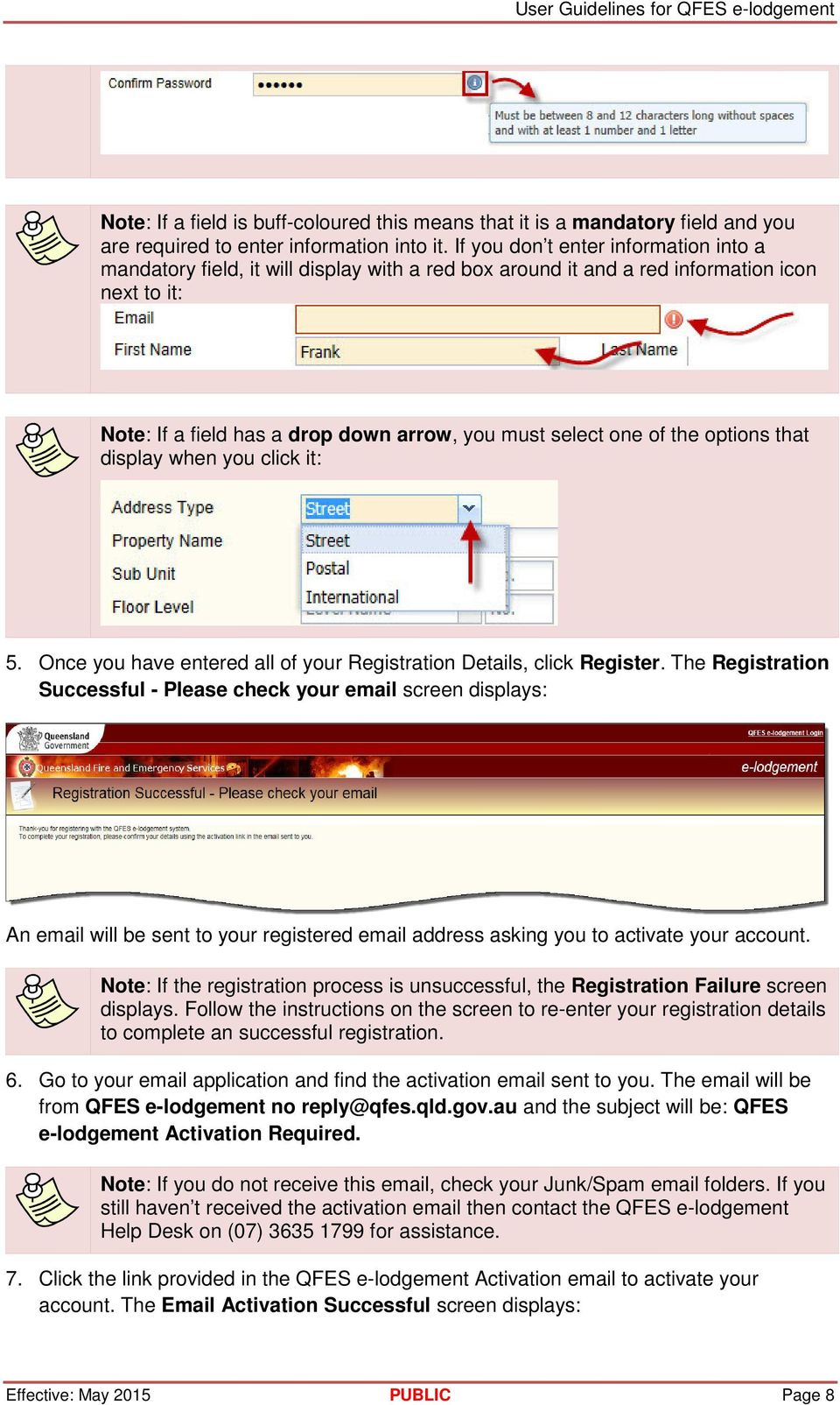 the options that display when you click it: 5. Once you have entered all of your Registration Details, click Register.