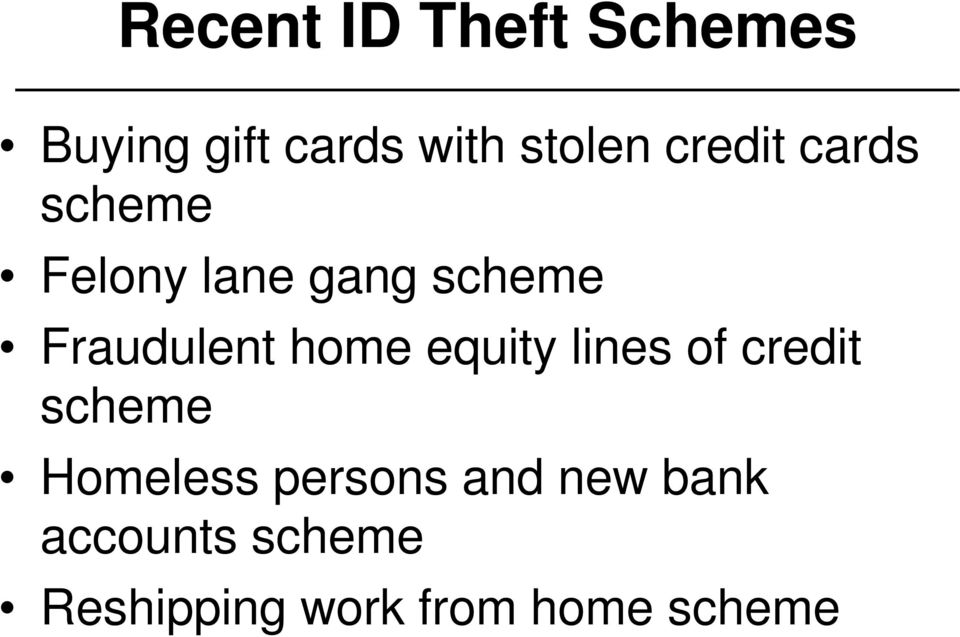 home equity lines of credit scheme Homeless persons and