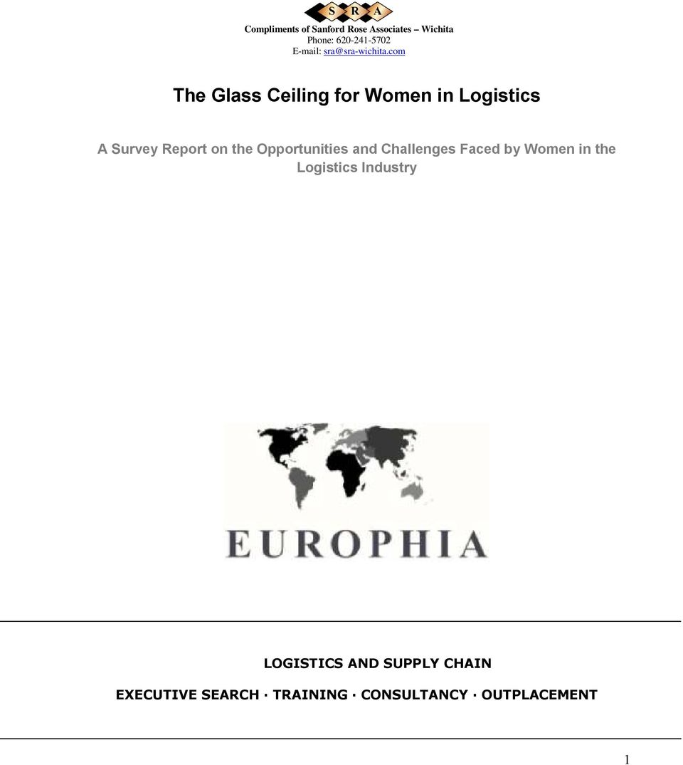 Women in the Logistics Industry LOGISTICS AND SUPPLY