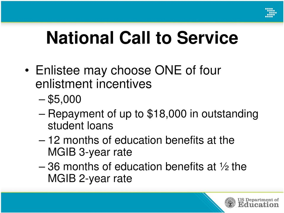 outstanding student loans 12 months of education benefits at