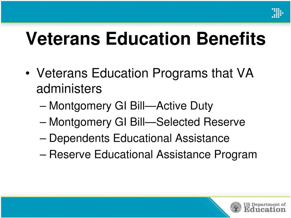 Active Duty Montgomery GI Bill Selected Reserve
