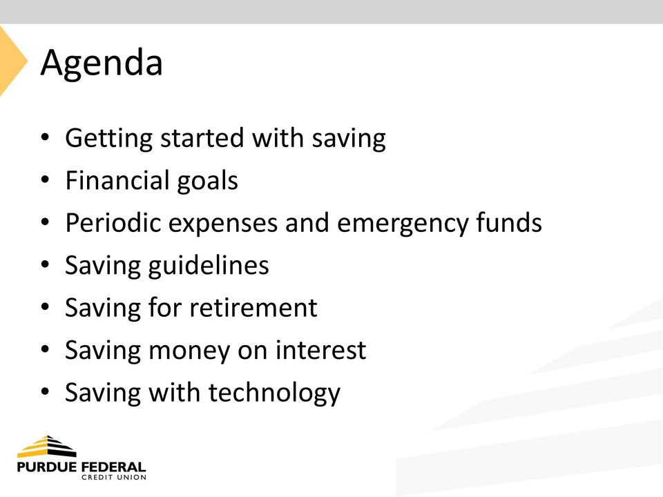 emergency funds Saving guidelines Saving