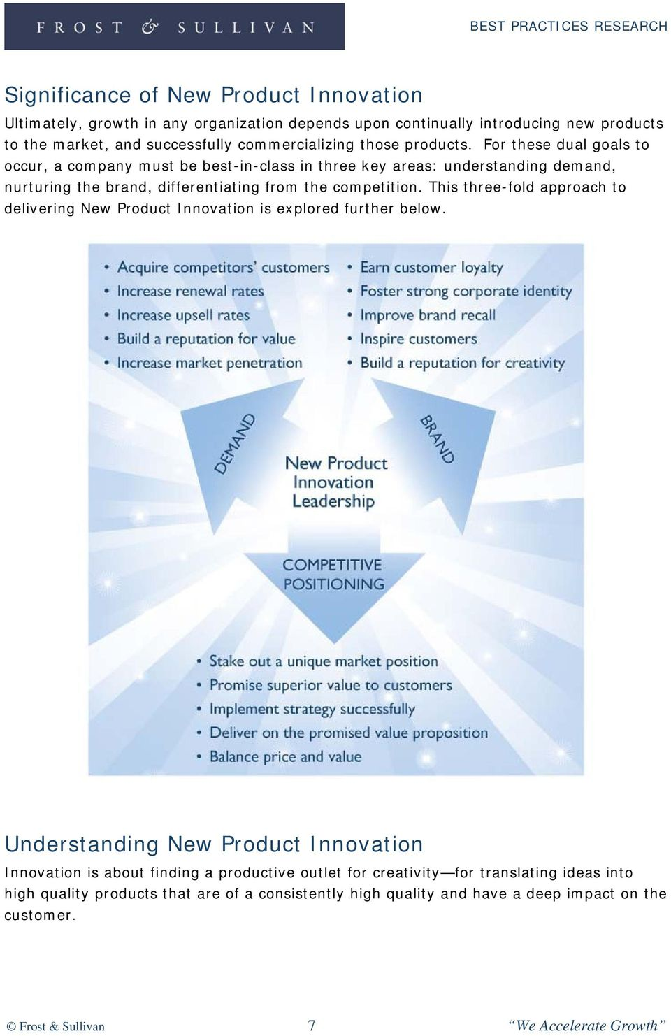 This three-fold approach to delivering New Product Innovation is explored further below.