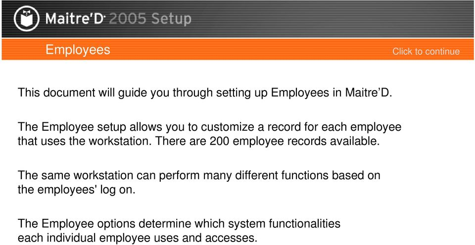 There are 200 employee records available.