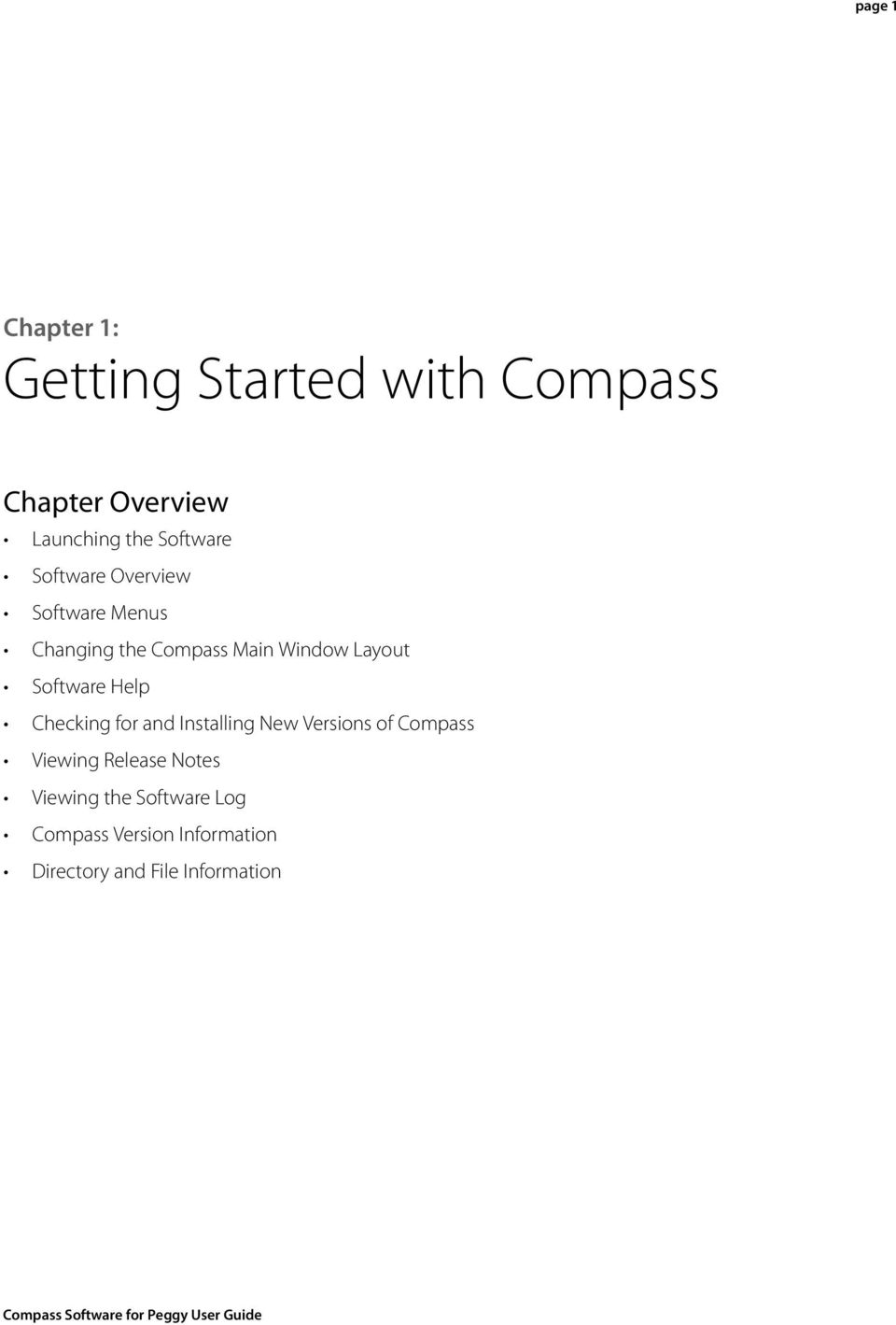 Software Help Checking for and Installing New Versions of Compass Viewing Release